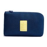 班哲尼 旅行数码收纳包数据线充电宝移动硬盘收纳袋 电源笔记本充电线拉链整理包 藏青色