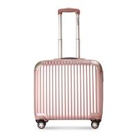 莎米特(SUMMIT) 拉杆箱女 商务18英寸登机箱旅行箱 小行李箱万向轮PC338TC 玫瑰金