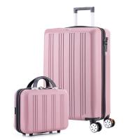 拓行者(MOUNTAIN WALKER)拉杆箱20英寸行李箱男女万向轮子母多功能密码旅行箱子 MT-18001玫瑰金