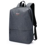 稻草人(MEXICAN)男士背包15.6英寸电脑包双肩包男休闲时尚多功能学生书包大容量50574深灰色