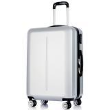 梵地亚(Vantiiear)拉杆箱万向轮耐磨抗摔行李箱20英寸男女旅行箱登机箱 银色