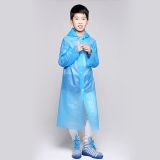 班哲尼 非一次性儿童雨衣 PEVA加厚雨披 户外登山旅行非一次性雨披儿童雨具可重复使用 2个装 蓝色