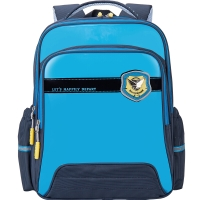 卡拉羊(Carany)小学生书包男女孩儿童书包1-3-5年级减负双肩背包CX2593冰海蓝