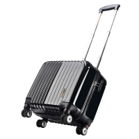 Surelaptop 拉杆箱商务登机箱镜面ABS+PC静音万向轮密码锁旅行箱3036-17黑色17英寸