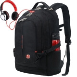 SWISSGEAR双肩包 防水多功能笔记本电脑包14.6英寸/15.6英寸商务背包男学生书包休闲 SA-9393III黑色