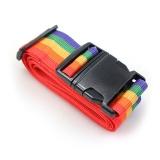班哲尼 一字打包带 出国托运拉杆箱捆绑带扎带行李箱托运打包带旅行安全捆箱带 含行李书写牌 彩虹色