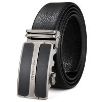 金利来(Goldlion)男士皮带男 商务男式腰带精美时尚皮男款裤带 黑A8C0021-11 尺寸随机发货