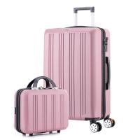拓行者(MOUNTAIN WALKER)拉杆箱24英寸行李箱男女万向轮子母多功能密码旅行箱子 MT-18002玫瑰金