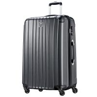 瑞动(SWISSMOBILITY)拉杆箱28英寸行李箱 洲际旅行箱轻盈大容量静音万向轮男女 5556黑色