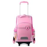 迪士尼(Disney)米妮小学生拉杆书包1-3-6年级儿童书包韩版背包六轮拉杆双肩包 BM0387B 粉色