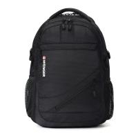 瑞士军刀威戈Wenger双肩背包 休闲商务笔记本电脑包15英寸双肩包男女书包 黑色SAB87610109037