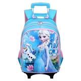 迪士尼(Disney)冰雪奇缘小学生拉杆书包女六轮可爬楼梯 BP6349C 蓝色