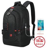 SWISSGEAR加密防盗双肩包 防水商务笔记本电脑包15.6英寸/17英寸男休闲多功能双肩背包书包SA-9393XL黑色