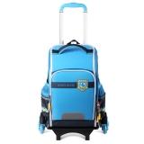 迪士尼(Disney)米奇小学生拉杆书包1-3-6年级儿童书包韩版背包六轮拉杆双肩包 BM0387A 蓝色