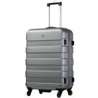 爱华仕(OIWAS) 拉杆箱6130U 万向轮拉杆箱ABS+PC拉杆行李箱 男女登机休闲旅行箱 20英寸银灰色