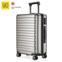 90分拉桿箱24英寸 德國拜爾PC材質靜音萬向輪行李箱 商旅兩用旅行箱 寧靜灰