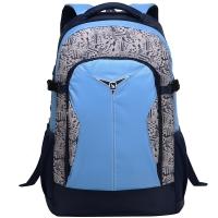爱华仕(OIWAS)大容量双肩背包 笔记本电脑包15英寸 休闲户外男女学生书包 4000蓝色