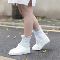 班哲尼 非一次性雨具雨衣雨鞋套雨靴套 户外沙漠防沙旅行雨天防水鞋套脚套男女儿童防雨鞋套 磨砂白 M