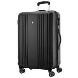 ALLANT拉杆箱万向轮 24英寸行李箱男旅行箱 ABS时尚轻盈 AL-8503 黑色