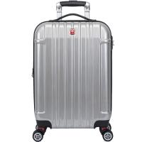 瑞士军刀威戈(Wenger)拉杆箱登机箱旅行箱22英寸PC+ABS材质可扩充万向轮拉丝银SAX526117107057