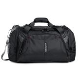 艾奔(AspenSport)大容量商务短途出差旅行包 男士手提行李包健身包女AS11K10 黑色22英寸