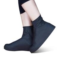 班哲尼 一次性雨具雨衣雨鞋套雨靴套 户外乳胶沙漠防沙旅行雨天防水鞋套脚套男女儿童防雨鞋套 黑色高筒L