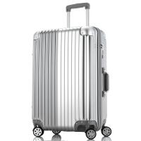 文森保罗(VinsonPaul)行李箱女26英寸万向轮拉杆箱ABS+PC大容量旅行箱 VP-161003辉煌银