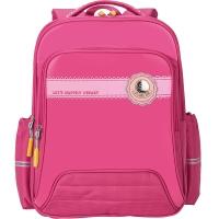 卡拉羊(Carany)小学生书包男女孩儿童书包1-3-5年级减负双肩背包CX2593玫红