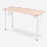 尼德 亚当系列E1级环保钢架折叠书桌子家用AC5AW-E1(120*40)粉橡面白框