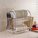 千恩千喜 QEQX SUS304不锈钢 碗碟架 碗盘架 沥水架 厨房置物架 收纳架 碗架 二层 2147-2A