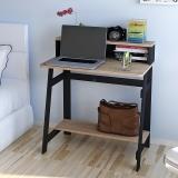 慧乐家 电脑桌 博雅电脑书桌双层写字桌台式办公桌  黑色 11358