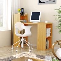 慧乐家 书桌 漫雅一体式电脑桌 带书柜多功能学习桌 橡木纹色 11250