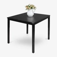 尼德(need)餐桌方型 家用麻将桌4人休闲洽谈桌子 AC3CB (80*80) E1级环保无味 黑橡面黑框架