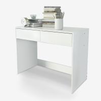 家乐铭品 书桌 烤漆双抽电脑桌抽屉书桌办公桌工作台ZC152-S