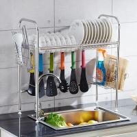 千恩千喜 QEQX SUS304不锈钢 水槽碗碟架 碗盘架 沥水架 厨房置物架 收纳架 碗架 单槽款631A