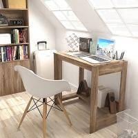 慧乐家 电脑桌 收纳电脑书桌学习桌 法国香樟木色 11299