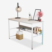 千意爱家居 电脑桌简约时尚多功能书桌笔记本电脑桌白水曲柳白架DNZ2130