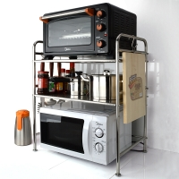 吉睿 储物/置物架 不锈钢58CM双层台面厨房微波炉置物架子 JR3053 厨房卫浴置物收纳层架