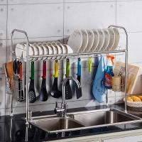 千恩千喜 QEQX SUS304不锈钢 水槽碗碟架 碗盘架 沥水架 厨房置物架 收纳架 碗架 双槽款831A
