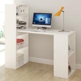 朗程简约台式电脑桌 书桌带书架学习办公桌子