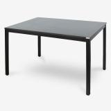 尼德(need)餐厅餐桌电脑桌子 家用办公会议培训桌 AC3CB (120*80) E1级环保无味 黑橡面黑腿