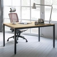 尼德(need)极简时尚风格电脑桌 家用会议培训办公桌子 AC3BB (120*60) E1级环保无味 柚木面黑框架
