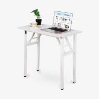 尼德(need) 可折叠书桌子 多用途便携式学习 AC5DW (80*40)   E1级环保无味 暖白面白框