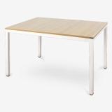 尼德(need)餐厅餐桌电脑桌子 家用办公会议培训桌 AC3BW (120*80) E1级环保无味 柚木面白腿