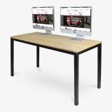 尼德(need)电脑桌 会议培训办公桌子 AC3BB (140*60) E1级环保无味 柚木面黑框架
