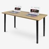 尼德(need)加大台式办公电脑桌子 时尚简约家用办公会议专用 AC1BB-E1 (140*60) E1级环保无味 柚木面黑腿