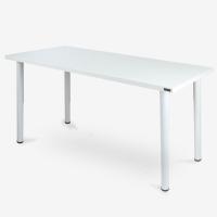 尼德(need)加大台式办公电脑桌子 时尚简约家用办公会议专用 AC1DW-E1 (140*60) E1级环保无味 暖白面白腿