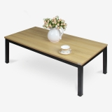 尼德(need)茶几 家用简易日式小桌子 AF4BB (120*60) E1级环保无味 柚木面黑框架