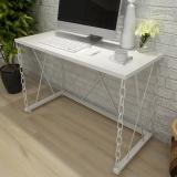 美宜德曼 电脑桌 思达铁链办公桌白色 写字台学习桌写字桌