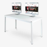 尼德(need)电脑桌 会议培训办公桌子 AC3DW (140*60) E1级环保无味 暖白面白框架